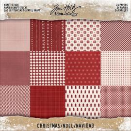 "Kraft Mini Stash Christmas - 8x8"""