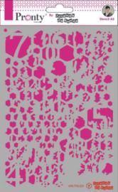 Background Honey Comb Grunge - Stencil A5
