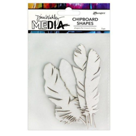 Media Chipboard Shapes Feathers