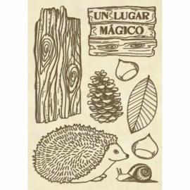Forest Hedgehog - Decoratie Hout