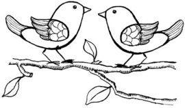 Branch With Birds - Clearstamp