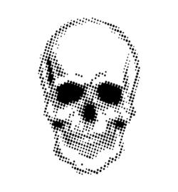 Half Tone Skul - Stencil