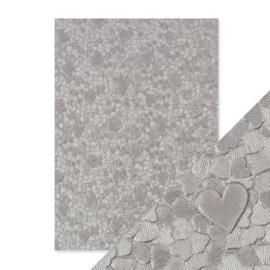 Embossed Papier - Cascading Hearts Handmade