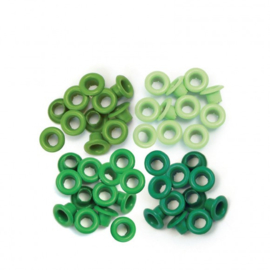 4x Green - Eyelets 60 pcs