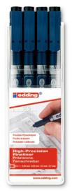 Edding Drawliner Set - Zwart 4 pcs