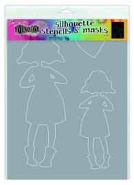 Silhouettes Martha - Stencil A4