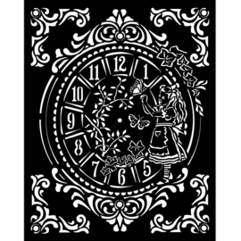 Sleeping Alice Clock - Thick Stencil (0,25 mm)