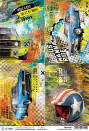 No Speed Limit Cards - Rijstpapier A4