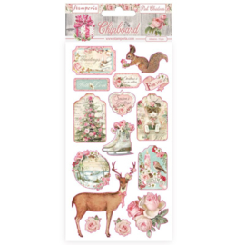 Pink Christmas - Chipboard