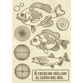 Forest Fish - Decoratie Hout