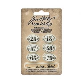 Mini Plaquettes - Decoratie metaal