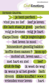 Tekst Typewriter Spiritueel (NL) - Clearstamp