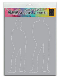 Silhouette Tom - Stencil A4