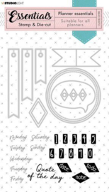 Rectangle Planner Essentials nr 51 - Stamp & Die-cut