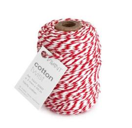 Koord Cotton Twist Rood Wit