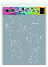 Silhouettes Maisie - Stencil A4