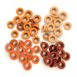 4x Orange - Eyelets 60 pcs