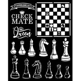 Sleeping Alice Check Mate - Thick Stencil (0,25 mm)