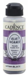 Velvet Shimmer Powder Zwart