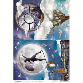 In the Moonlight - Rijstpapier A4