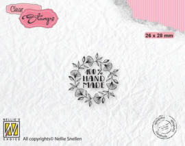 100% Handmade - mini Clearstamp