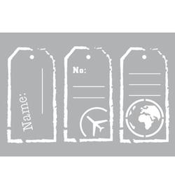 Travel Tags - Stencil A5