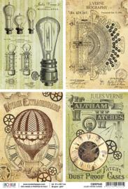Jules Verne Cards - Rijstpapier A4
