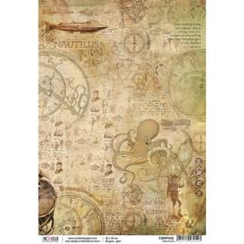 Nautilus  - Rijstpapier A4