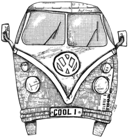 Camper Van COOL 1 - Clingstamp