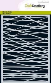 Lijnen Ruit Kruislings Onregelmatig - Stencil A5