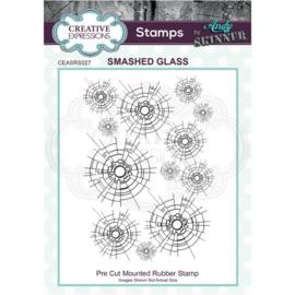 Smashed Glass - Clingstamp