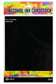 Alcohol Ink Cardstock Black Matte, 10 pcs