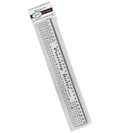 Clear Acrylic Piercing Ruler with Steel Edge