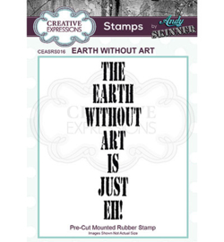 Earth Without Art - Clingstamp