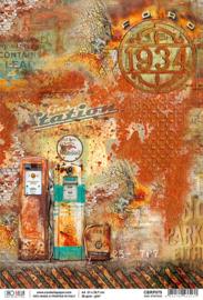 Gas Station - Rijstpapier A4