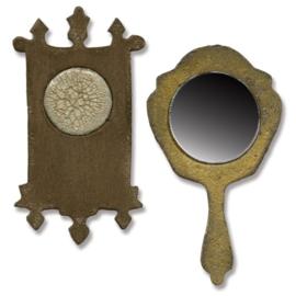 Mini Mirror & Wallclock Set - Stans