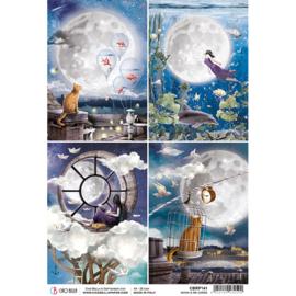 Moon & Me Cards - Rijstpapier A4