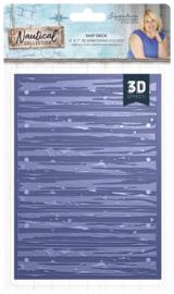 Nautical 3D Embossing Folder Ship Deck