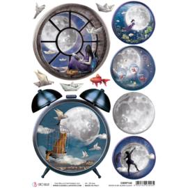 Moon & Me Alarm Clock - Rijstpapier A4