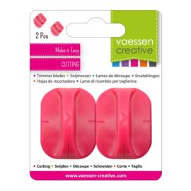 Reservemesjes voor Papiersnijders - roze, 2pcs