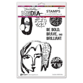 """Be Bold - Clingstamp 6x9"""""""