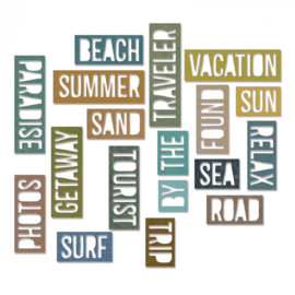 Vacation Words Block - Stans