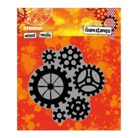 Mixed Media nr 05 Gears - Foamstamp