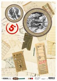 Just Lou Aviation Collection nr.17 - Rijstpapier A4