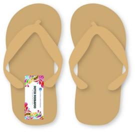 Paar Slippers  - MDF