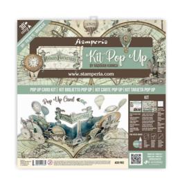 """Pop Up Kit Voyages Fantastiques Balloon - 12x12"""""""