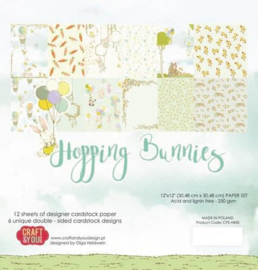 "Hopping Bunnies - 12x12"""