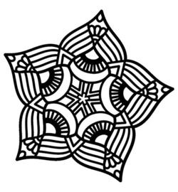 Mask Five Point Mandala