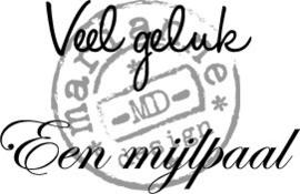 Veel Geluk (NL) - Clearstamp