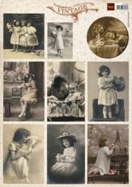 Vintage Photo Flower Children 1 - Knipvel